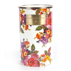 MacKenzie-Childs White Flower Market Utensil Holder