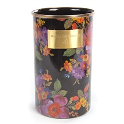 MacKenzie-Childs Black Flower Market Enamelware Utensil Holder