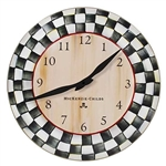 MacKenzie-Childs Enamelware Courtly Check Clock