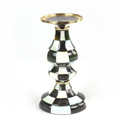 MacKenzie-Childs Courtly Check Medium Pillar Candlestick