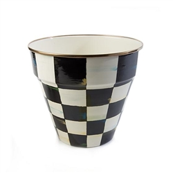 Mackenzie-Childs Courtly Check Enamel Garden Pot - Large