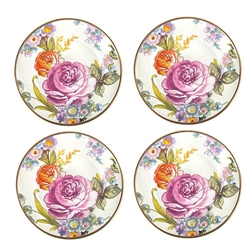 Mackenzie-Childs Flower Market Canape Plates - Set of 4