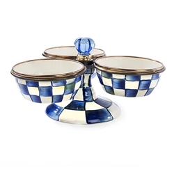 Mackenzie-Childs Royal Check Enamel Triplicity