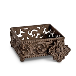 The GG Collection Cocktail Napkin Holder Acanthus Leaf