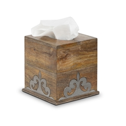 The GG Collection Wood and Metal Tissue Box