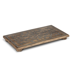 The GG Collection Wood And Metal Trivet