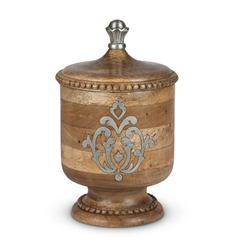 The GG Collection Wood and Metal Small Canister