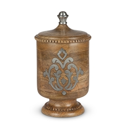 The GG Collection Wood and Metal Medium Canister