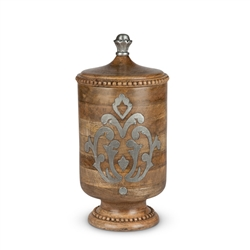 The GG Collection Wood and Metal Large Canister