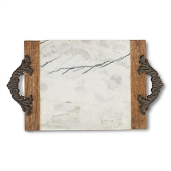 The GG Collection Large Marble Cheese/Serving Board