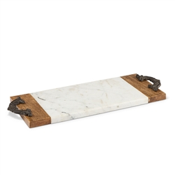 The GG Collection Small Marble Cheese/Serving Board
