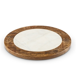 The GG Collection Marble Lazy Susan