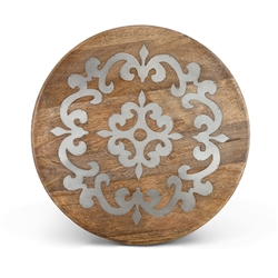 "The GG Collection Wood and Metal 18"" Lazy