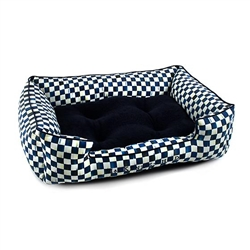 Mackenzie-Childs Royal Check Lulu Pet Bed - Medium