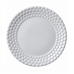 L'objet Aegean White Sculpted Dinner Plate