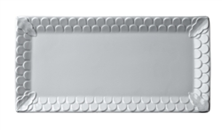 L'objet Aegean White Rectangular Sculpted Platter