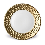 L'Objet Aegean 24kt Gold  Sculpted Dinner Plate