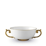 L'Objet  Aegean 24kt Gold Soup Bowl with 2 Handles.