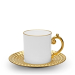 L'Objet  Aegean 24kt Gold Espresso Cup and Saucer