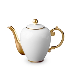 L'Objet 24kt Gold Tea/Coffeepot White