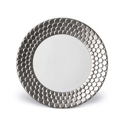 L'objet Aegean Platinum Sculpted Dinner Plate