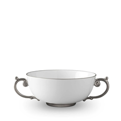 L'objet Aegean Platinum Soup Bowl with 2 Handles