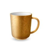 L'Objet Alchimie Earthenware 24k Gold Decorated Mug