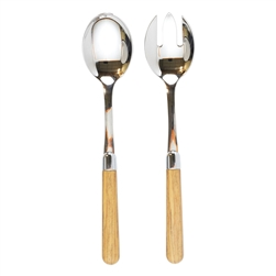 Vietri Albero Oak Salad Server Set - ALB-9404O