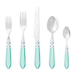 Vietri Aladdin Brilliant Aqua Five-Piece Place Setting