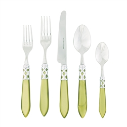 Vietri Aladdin Brilliant Chartreuse Five-Piece Place Setting - ALD-9800C-B