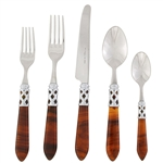 Vietri Aladdin Tortoiseshell Brilliant Five-Piece Place Setting