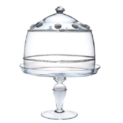 Juliska Isabella Large Cake Dome and Pedestal Set Clear