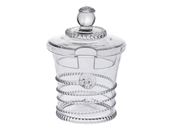 Juliska Amalia Sugar-Jam Jar Mouth-Blown Clear Glass