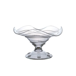 Juliska Amalia Mouth-Blown Fluted Candy Dish Clear