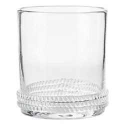 Juliska Dean Mouth-Blown Double Old Fashion Clear