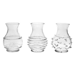 Juliska Mini Vase Trio Clear Set of 3