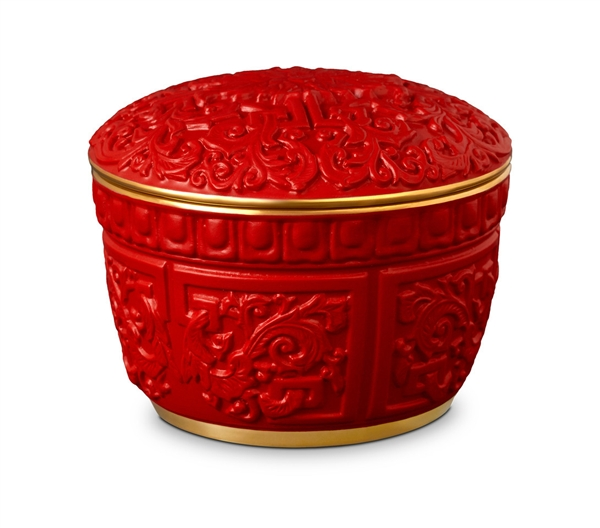 L'Objet Luminescence Chinoiserie Cinnabar Candle