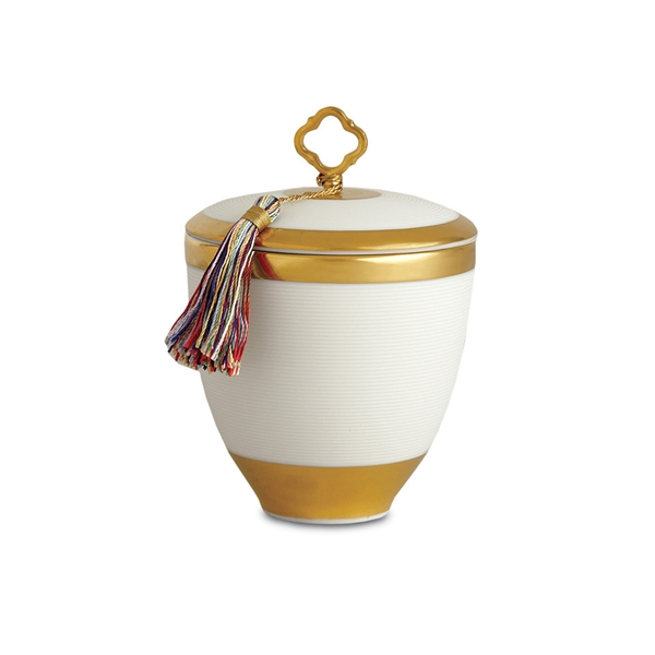 L'objet Gold Key Candle with Tassel Pink Champagne