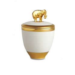 L'objet Gold Elephant Candle Pink Champagne