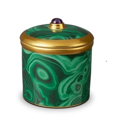 L'objet Malachite and Gold Scented Candle