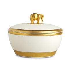 L'objet Large Gold Elephant Candle Pink Champagne