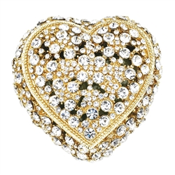 Olivia Riegel Gold Crystal Heart Ring Box