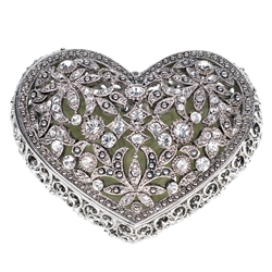 Olivia Riegel Luxumbourg Swarovski Crystal Heart Box