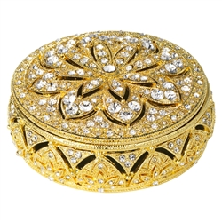 Olivia Riegel Gold Windsor Round Box - Chelsea Gifts