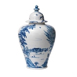 Juliska Country Estate Lidded Ginger Jar Delft Blue