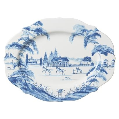 Juliska Country Estate Medium Serving Platter Stable Delft Blue