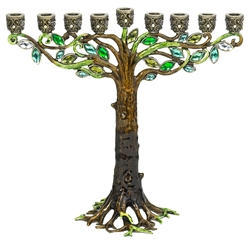 Olivia Riegel Tree Enamel Menorah