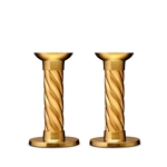 L'objet Gold Carrousel Candlesticks - Small Set of 2