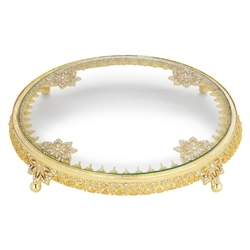 Olivia Riegel Gold Windsor Cake Plateau - Chelsea Gifts