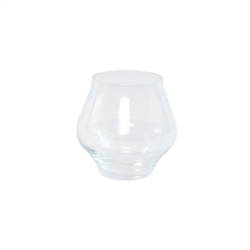 Vietri Contessa Clear Stemless Wine Glass - CTA-CL8821